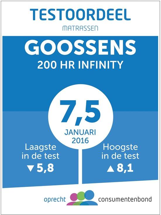Goossens Pocketveringmatras Infinity 200hr met luxafoam
