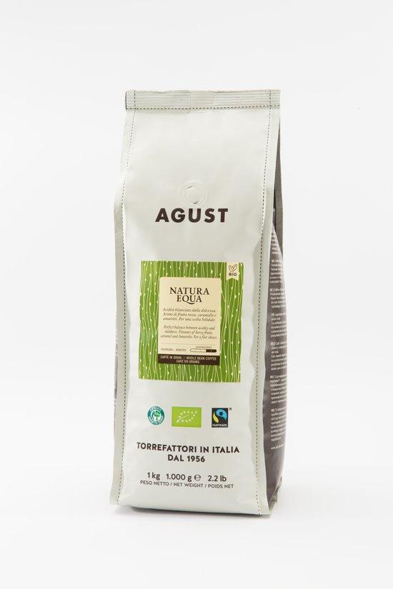 Caffè Agust Natura Equa, 100% organic, fairtrade, Co2 neutrale verpakking 3 keer 500g bonen