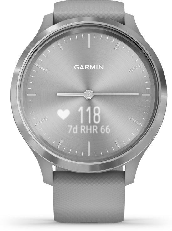 Garmin Vivomove 3S - hybride smartwatch - Silver/grijs