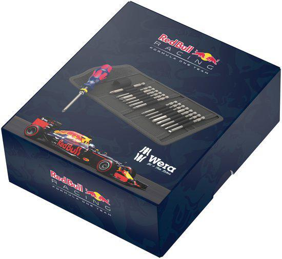 Red Bull Racing - Schroevendraaierset -  Losse bits -  Kraftform Kompakt 60 RVS – 17-delig