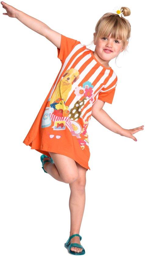 Jersey jurk Tatoua oranje
