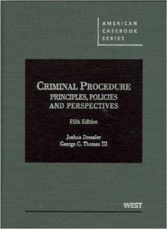 crimianl procedure policy