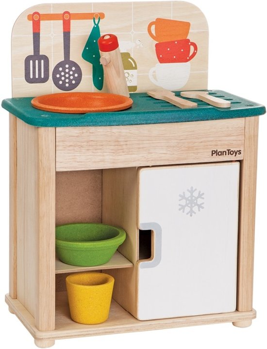 PlanToys Sink & Fridge Speelkeukentje