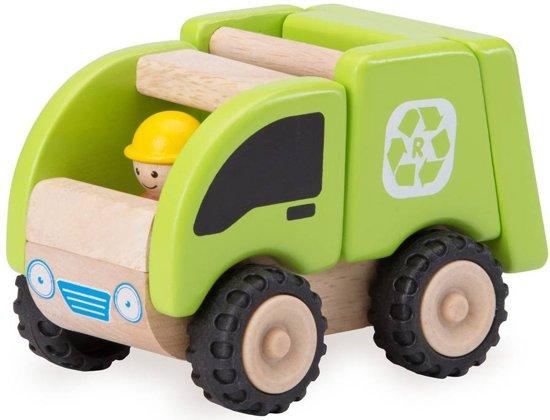 Houten speelgoedvoertuig Vuilniswagen