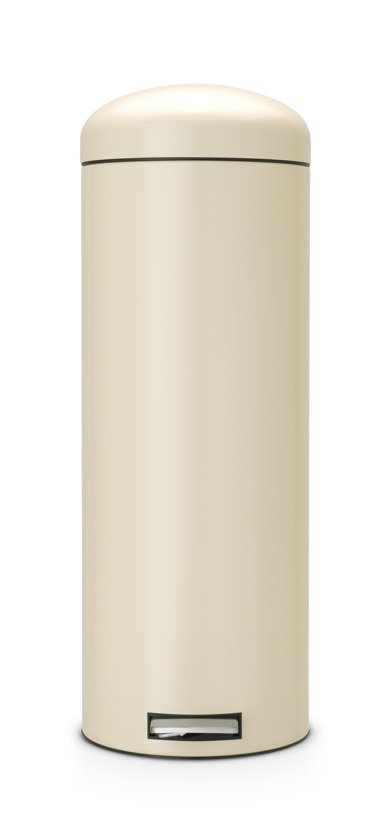 Brabantia 20 Liter Pedaalemmer.Pedaalemmer 20 Liter Retro Bin Met Kunststof Binnenemmer Motion Control Almond