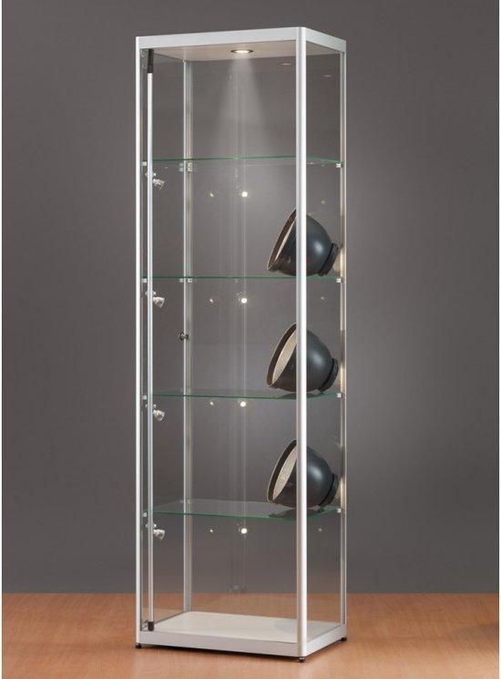 Vitrinekast Met Verlichting.Bol Com Luxe Vitrinekast Aluminium 60 Cm Met Led Verlichting