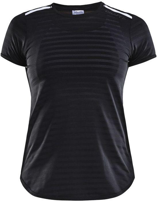 Craft Breakaway Ss Tee Two W Sportshirt Dames - Black/white