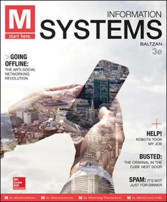 M: Information Systems 3e ed