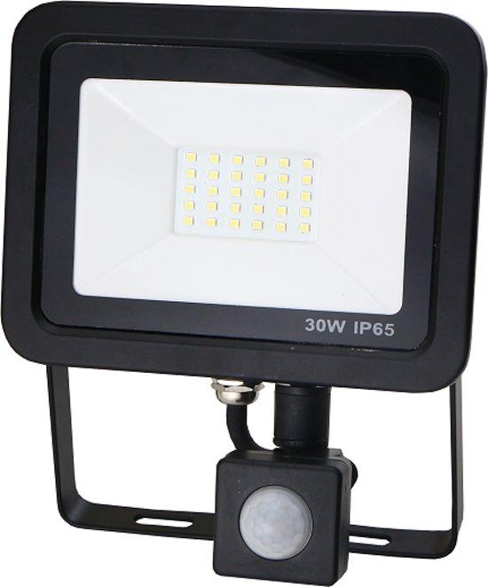 Led bouwlamp met sensor 30W koud-wit