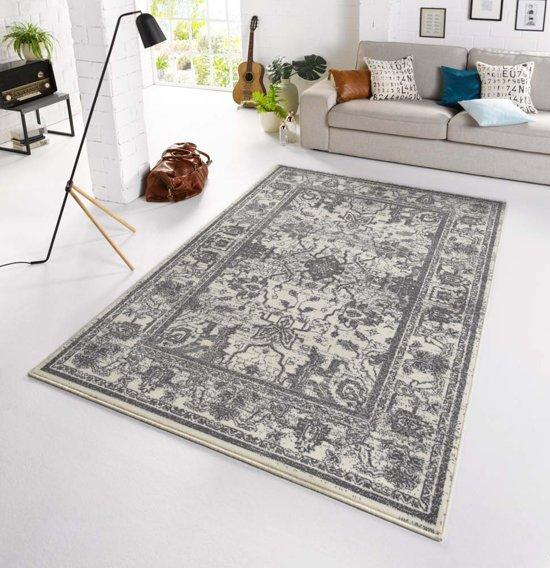 2a405151ed067a Vintage tapijt Glorious 70x140 cm Grijs   Wit