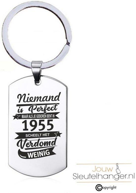 Sleutelhanger RVS - Niemand Is Perfect - 1955