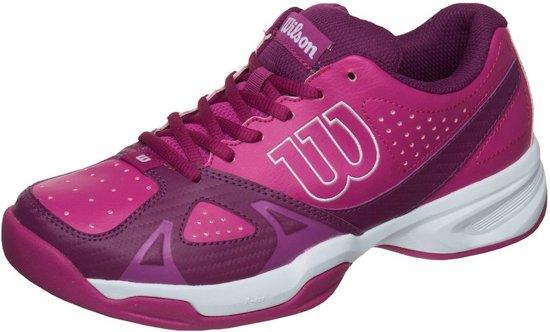 Chaussures De Tennis Wilson Femmes Rush Sport Blanc / Violet Taille 41 1/3 unrObLw