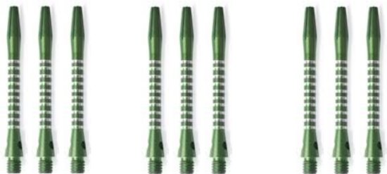 3 Sets - Abbey Darts Shafts Aluminium - Groen - medium - darts shafts
