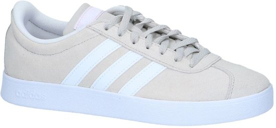 adidas VL Court 2.0 Sneakers Dames - Chalk Pearl S18/Ftwr White/Aero Pink  S18 - Maat 37 1/3