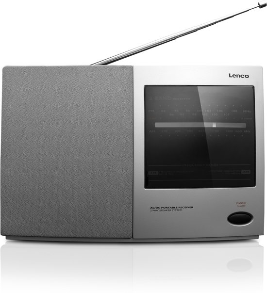 Lenco MPR-031 - Draagbare radio - Zilver