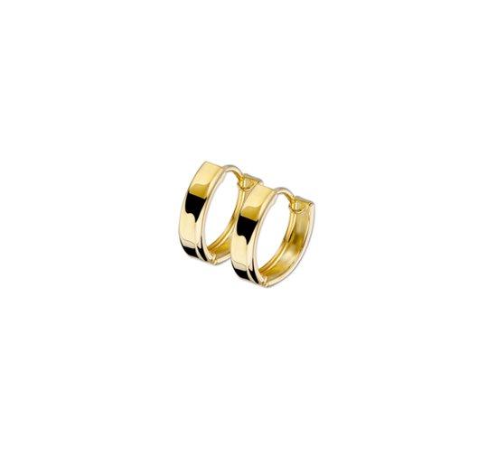 The Jewelry Collection klap-oorringen 3,0 mm Vlak - Geelgoud