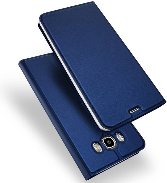GSMWise - Samsung Galaxy J5 (2016) - PU lederen Bookcase Hoesje - Donker Blauw in Maalbroek