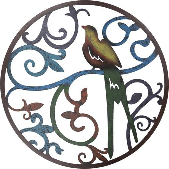 Wanddecoratie vogel ø 99 cm Bruin | 5Y0493 | Clayre & Eef