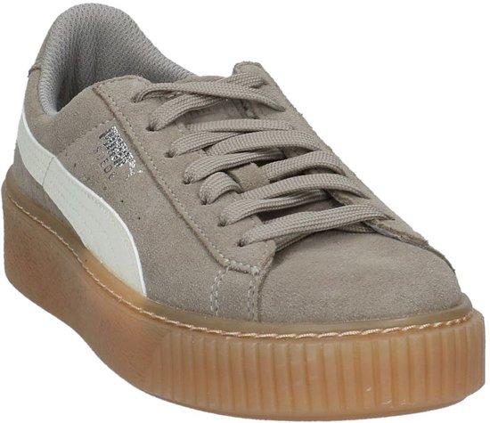 Grijze Suede Sneakers Puma Sportieve Lage Platform W2ID9YEH