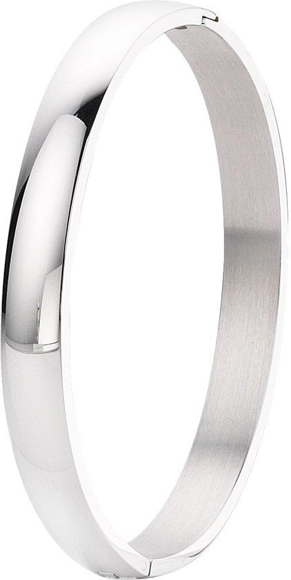 Lucardi bangle - Dames - Zilverkleurig - 19 cm
