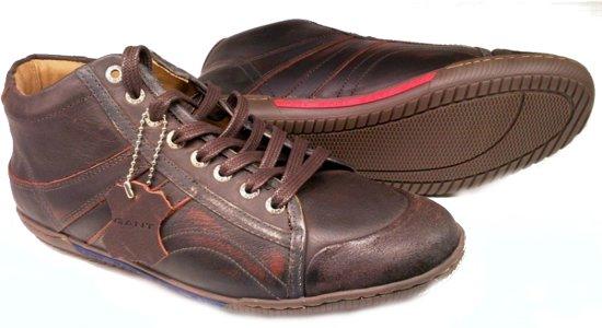 Bruin Renton Half Geschuurd Heren 45 Donker Sneaker Leder Maat Gant Hoge CAqH8