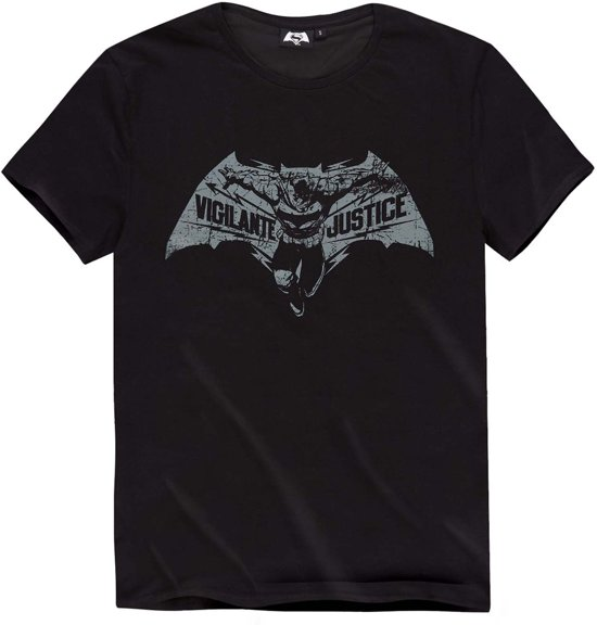 Batman-vs-Superman-T-shirt-met-korte-mouw-zwart-maat-L