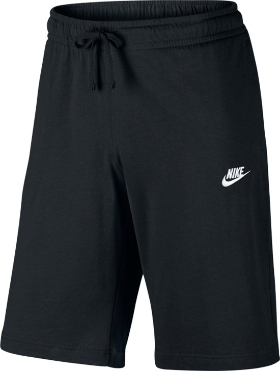 Nike Sportswear Club Short Jersey Sportshort Heren - Black/White