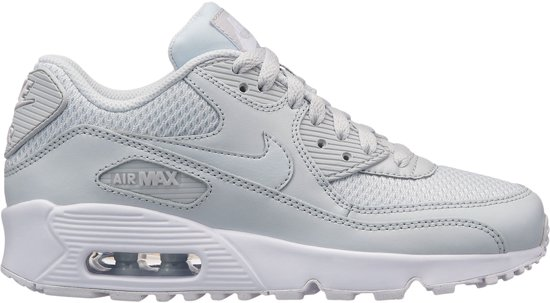 new products af542 ac23c Nike Air Max 90 Mesh Sneakers Kinderen - wit grijs