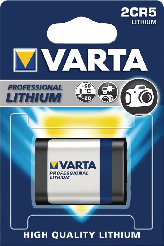 Varta Batterij 2CR5 Lithium 6V ( 1 stuk )