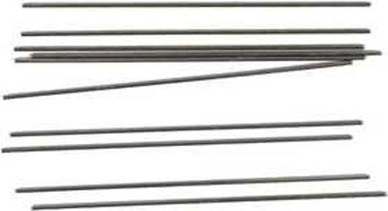 Metalen staaf, d: 2 mm, l: 15 cm, 10stuks