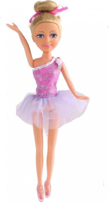 Eddy Toys Tienerpop Balletdanseres Donkerroze 28 Cm