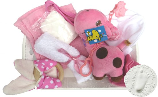 Kraam Cadeau Geboorte Baby Meisje Dochter Kraamcadeau 10 Delig Nu Met Gratis Speenketting