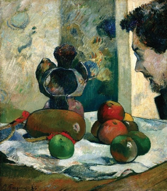 Paul Gauguin : Still Life with Profile of Laval (1930) Canvas Print
