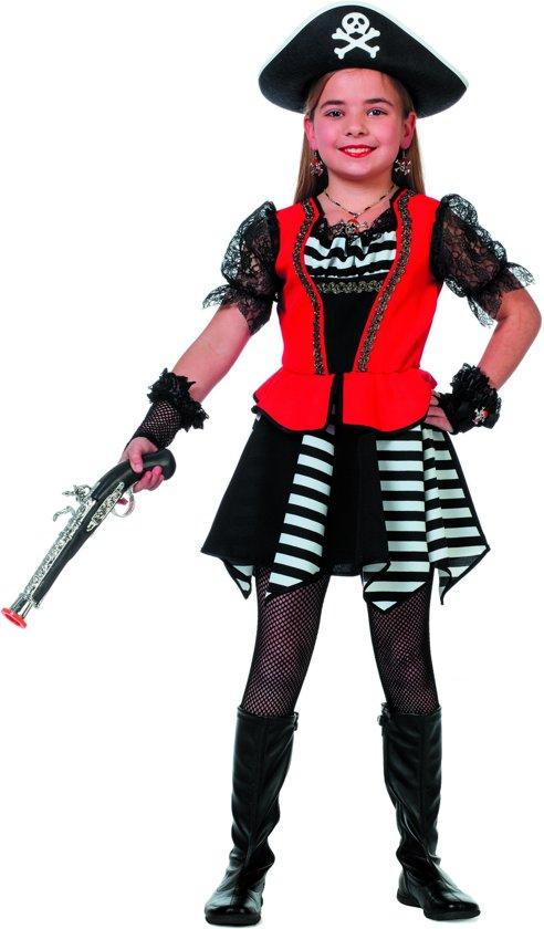 Piraat zwart/wit streep (meisje)164