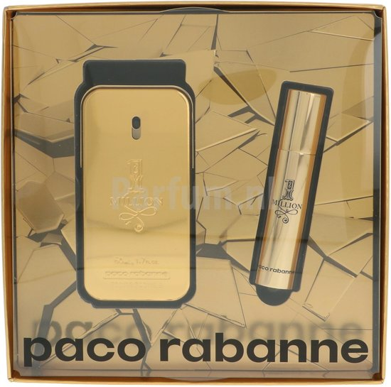 Paco Rabanne 1 Million 50ml EDT Spray / 10ml EDT Travel Spray
