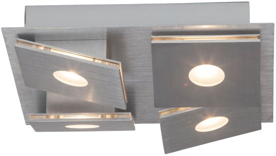 Brilliant EXACT Plafondlamp 4x55W Aluminium LED G65235/21