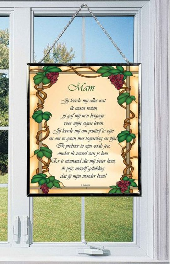 Raamhanger Tiffany Stijl Gedicht Mam