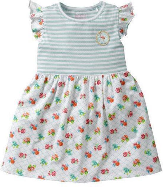f626f23ca5bf98 Room Seven Lentefeestjurk - turquoise wit rood oranje rose groen -