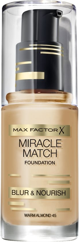 Max Factor Miracle Match Blur & Nour Foundation - 45 Warm Almond