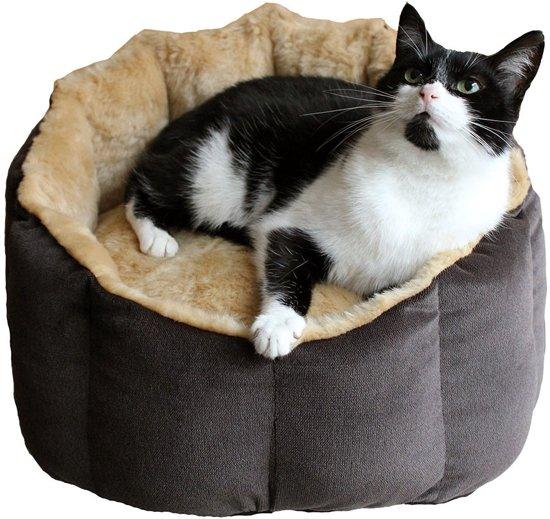 Poezenrijk Kattenmand Honey 50 x 45 x 16 cm Beige Bruin