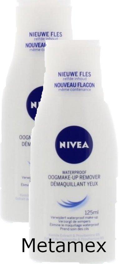 VOORDEEL 2 STUKS NIVEA Waterproof Oogmake-up Remover - Gezichtsreiniger - 125 ml