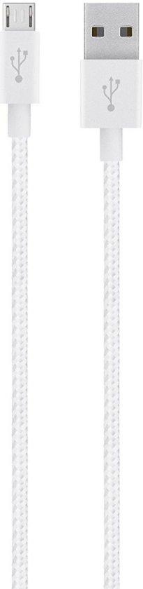 Belkin MIXIT Metallic Micro-USB naar USB Kabel - 1.2 meter - Wit