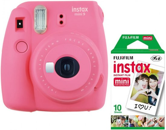 Fujifilm Instax Mini 9 - Incl. instant picture film 10st - Flamingo Pink