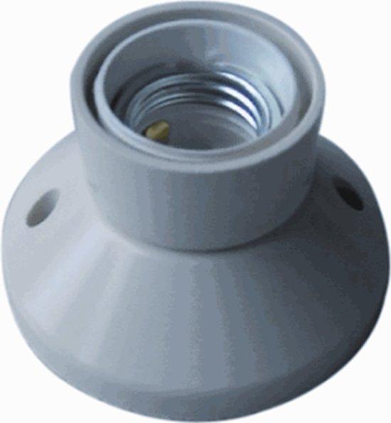 Q-LINK Toneelfitting E27 recht voor gloeilamp | wit