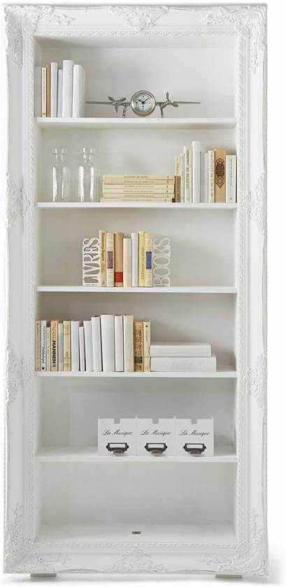 rivira maison long bar library book case boekenkast wit