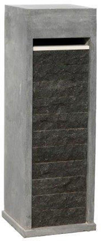Blauwsteen Brievenbus voorzijde basalt ruw model 63