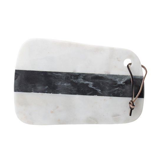 Snijplank Marmer wit zwart