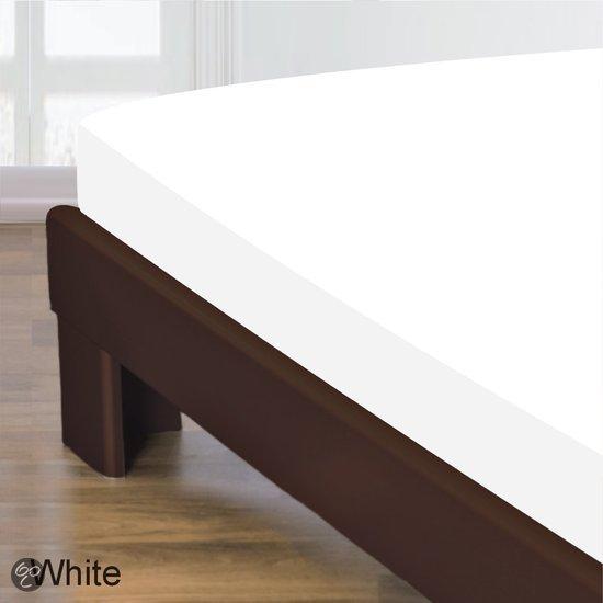 Homéé - Hoeslaken Gladde Katoen - Wit - 180x220+30cm