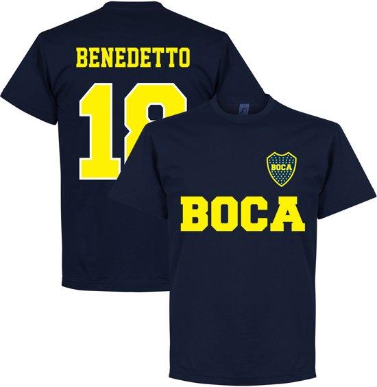 quality design f08e4 5c8c3 Boca Juniors Benedetto 18 Text T-Shirt - Navy Blauw - XL