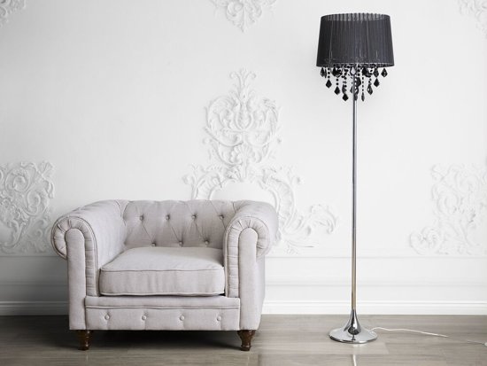 Bol beliani evans staande lamp zwart